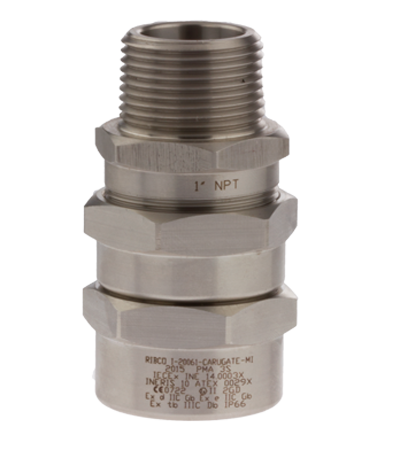 Cable glands for armoured cables