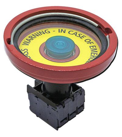 Illuminated emergency push button for hazardous area